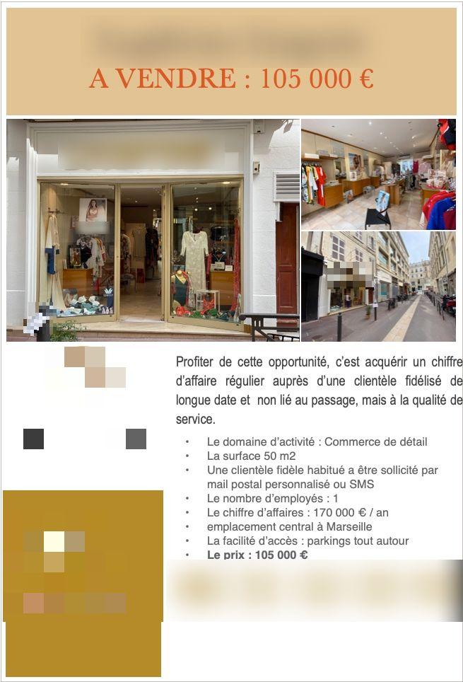 Vente Lingerie et maillot de bain Marseille (13001), dans le centre ville