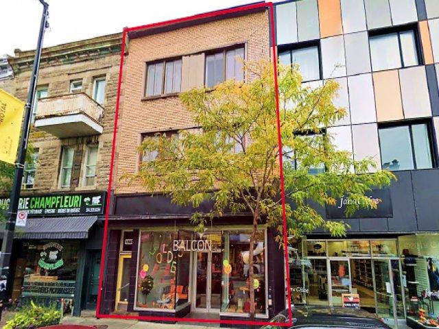 Vente Immeuble comprenant un commerce d'ameublement à Montréal au coeur du Plateau-Mont-Royal