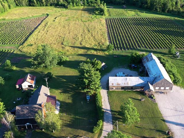Vente Vignoble en expansion, bâtisse commerciale près de Sherbrooke au Canada