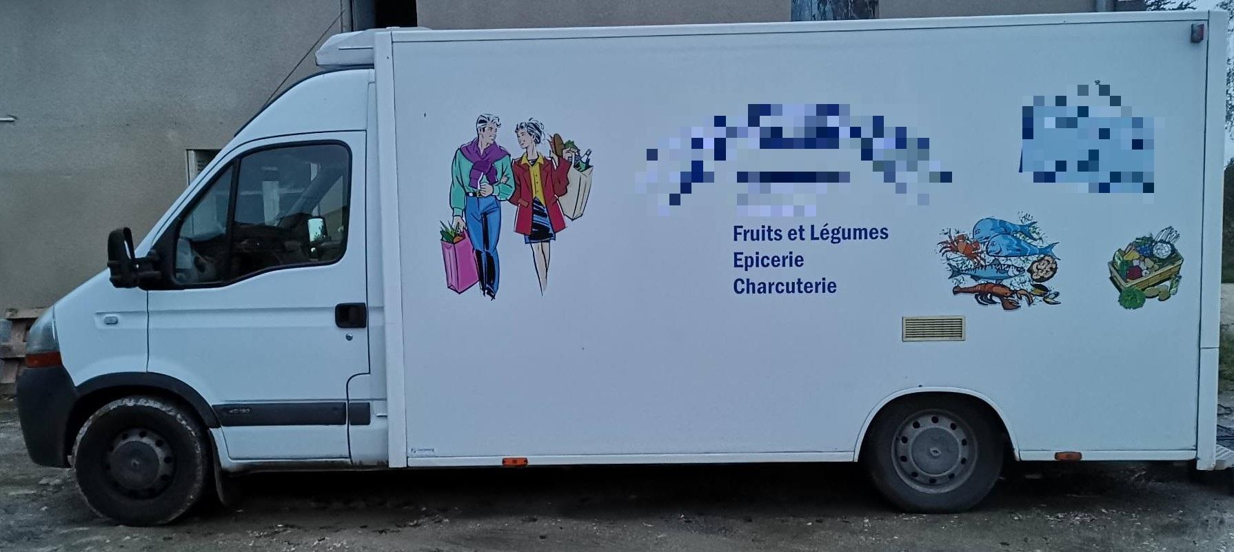 Vente Camion magasin produits frais + fonds de commerce dans la Vienne (86)